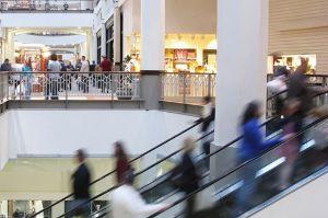 Bummeln in den Einkaufszentren
