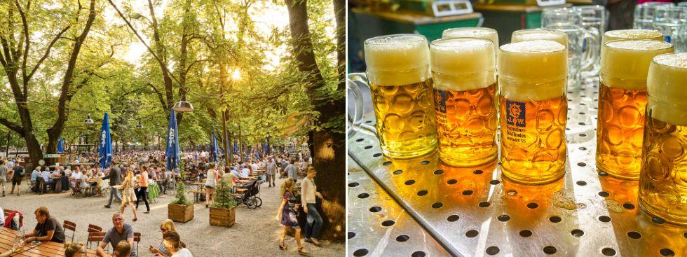 biergarten, augustiner, bier, sommer