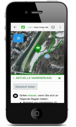 Isarapp im Screenshot