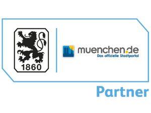 Partnerlogo muenchen.de und TSV 1860 München