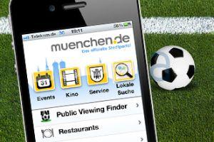 Public Viewing Finder App muenchen.de