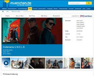 Screenshot des neuen Kinoprogramms auf muenchen.de