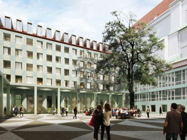 Siegerentwurf für den Umbau der Alten Akademie, Foto: Morger Partner Architekten AG