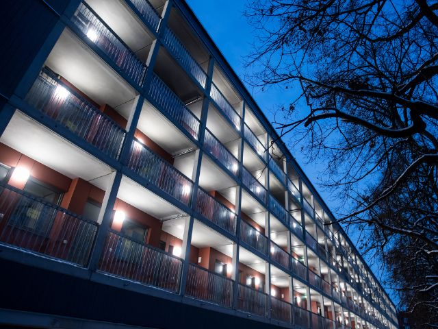 GEWOFAG-Wohnhaus am Dantebad., Foto: Lukas Barth