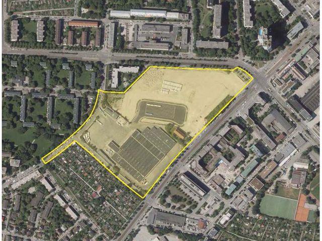 Kartenausschnitt des Baugebiets Westend- und Zschokkestraße, Foto: SWM