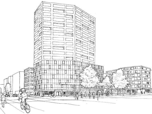 Visualisierung des Entwurf von teleinternetcafe für das Neubaugebiet Westend- und Zschokkestraße, Foto: Teleinternetcafe GbR, Berlin und Treibhaus Landschaftsarchitektur Hamburg