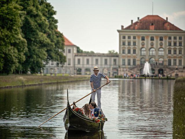 Gondelfahrt auf dem Kanal im Schlosspark Nymphenburg, Foto: Nicolas Gradicsky