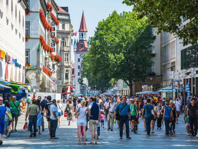 Fußgängerzone in München: Kaufinger Straße