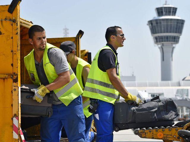 Gepäckhandling am Flughafen München, Foto: Flughafen München