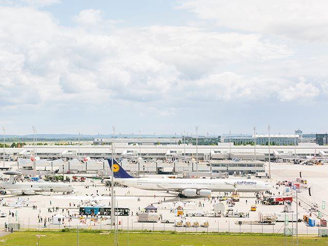 Vorfeld am Flughafen München, Foto: Flughafen München
