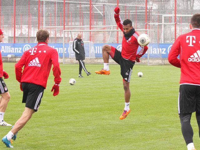 Passspiel-Übung beim Training des FC Bayern München, Foto: Immanuel Rahman