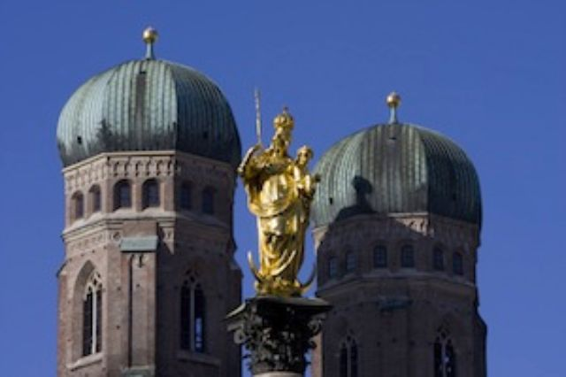 Munich Sights Frauenkirche and Friedensengel