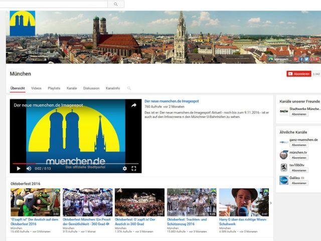 YouTube-Account von muenchen.de