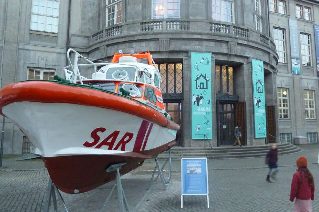 Rettungsboot vor dem Deutschen Museum, Foto: Deutsches Museum