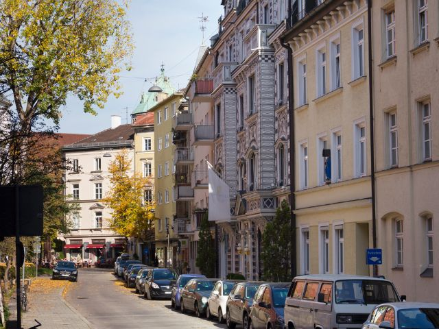 Wohngegend in München Lehel, Foto: Katy Spichal