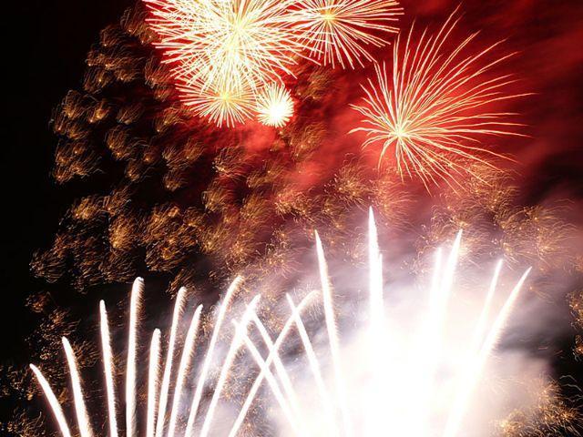 Feuerwerk auf dem Frühlingsfest., Foto: IPA-International Press Agency