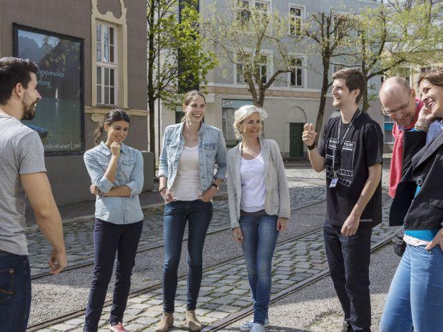 Führung einer Gruppe , Foto: Bavaria Filmstadt