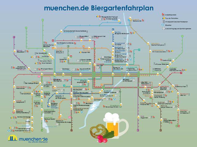 Der Biergartenfahrplan 2017 für München, Foto: muenchen.de