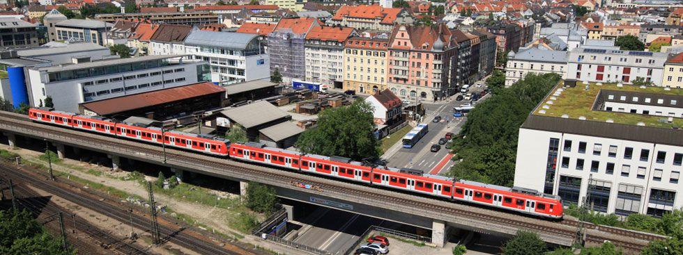 S-Bahn in der Münchner Innenstadt, Foto: Uwe Miethe / Deutsche Bahn AG
