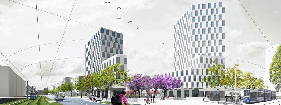 Landschaftsarchitektur München neues stadtquartier an der westend und zschokkestraße