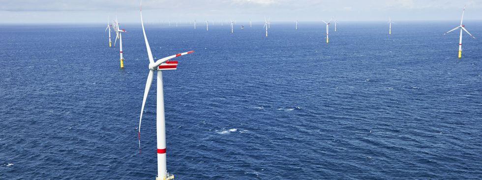 Offshore-Windpark Sandbank westlich von Sylt, Foto: Vattenfall / Jan Oelker