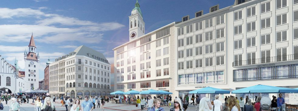 Visualisierung München hugendubel feiert bis herbst 2018 zwei eröffnungen in münchen das