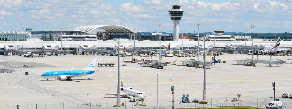 Das Vorfeld des Flughafen München, Foto: Flughafen München