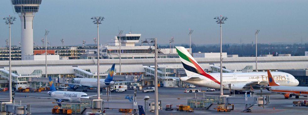 Der Flughafen München, Foto: Flughafen München
