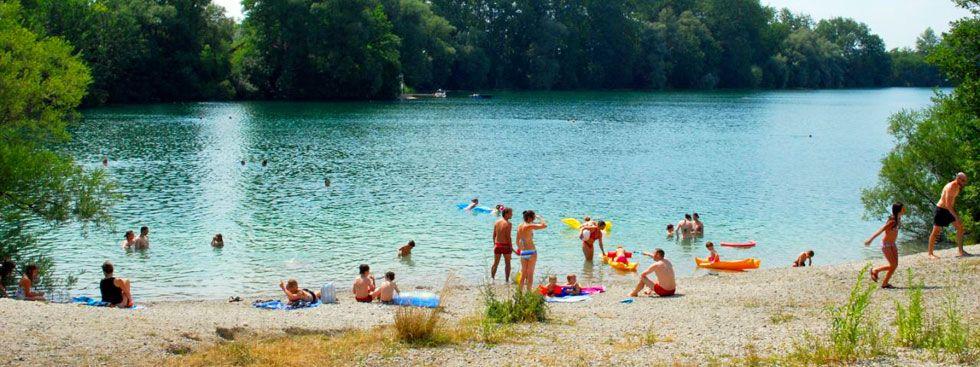 Langwieder See mit Badebucht, Foto: muenchen.de/Michael Neißendorfer