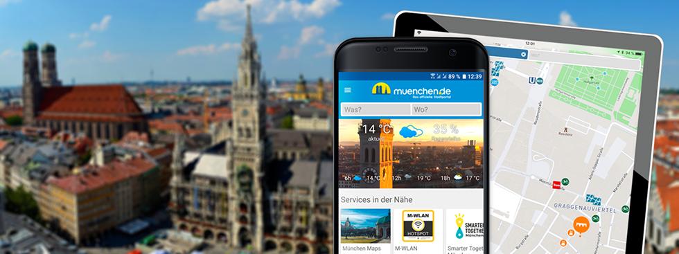 SmartCity App auf Android-Phone und iPad