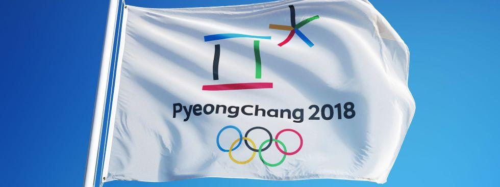 Olympische Fahne 2018