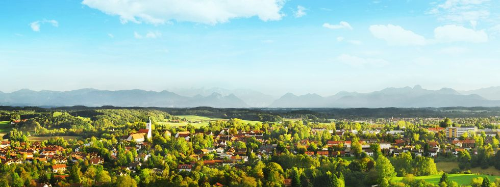 Panoramablick auf Ebersberg, Foto: Landratsamt Ebersberg
