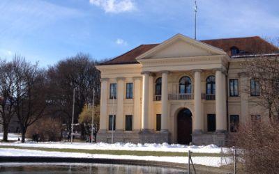 Schnee vor dem Prinz-Carl-Palais