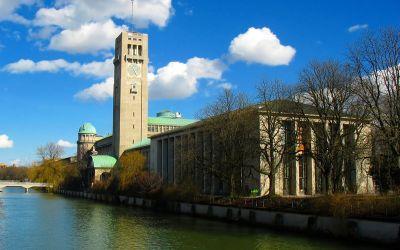 Das Deutsche Museum an der Isar in München.