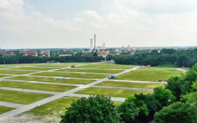 Theresienwiese Panorama Blick nach Süden