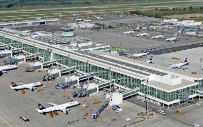 Luftaufnahme Satellitenterminal Flughafen München