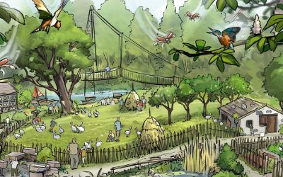 Illustration Mühlendorf Tierpark Hellabrunn
