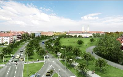 Eine Visualisierung vom zukünftigen Luise-Kiesselbach Platz