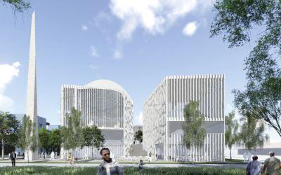Entwurf für das neue Islam-Zentrum in München.