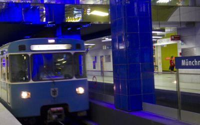 U-Bahn an der Münchner Freiheit.