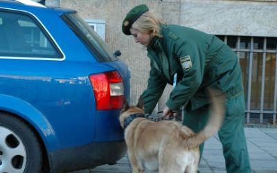 Polizistin mit Hund