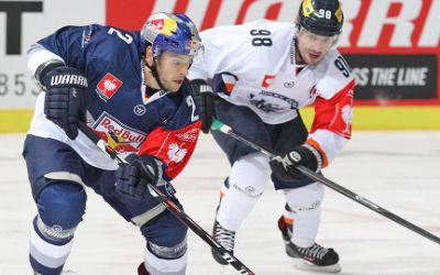 Spielszene aus der Partie EHC Red Bull München gegen HC Kosice