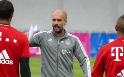 Pep Guardiola im Training des FC Bayern München
