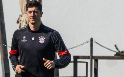 Robert Lewandowski vom FC Bayern im Training