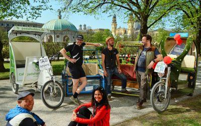 Rikschafahrer in München