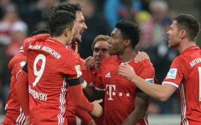 Bayern gewinnt 2:1 gegen Bayer 04 Leverkusen (26.11.2016)