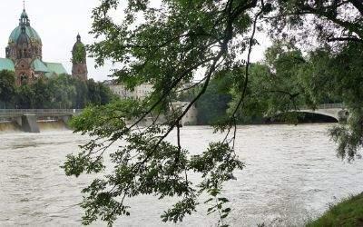 Hochwasser an der Isar am 14.7.2016