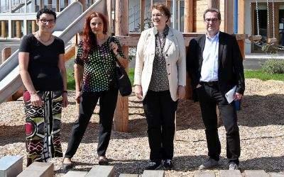 Presserundgang zur neuen Grundschule in Freiham