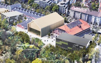 Visualisierung: Zwischennutzung des Gasteig in Sendling