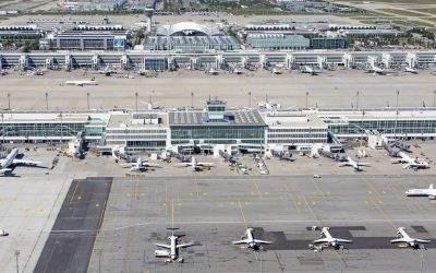 Das Flughafen-Gelände in München im Überblick